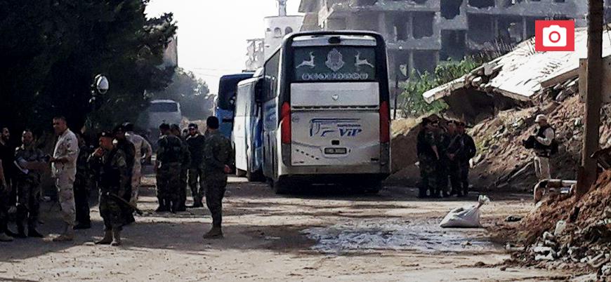 Şam'ın güneyindeki muhaliflerin tahliyesine başlandı