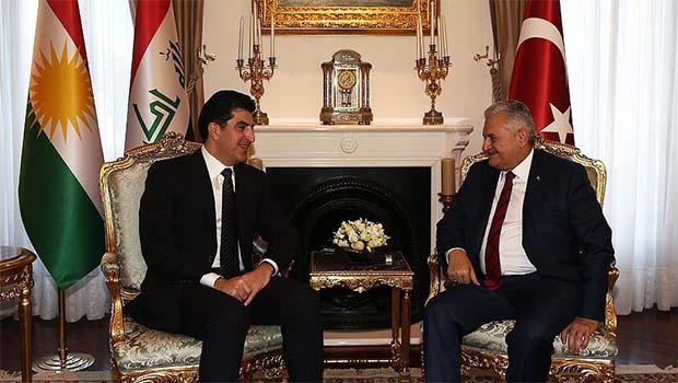 Başbakan Yıldırım Neçirvan Barzani'yle görüştü