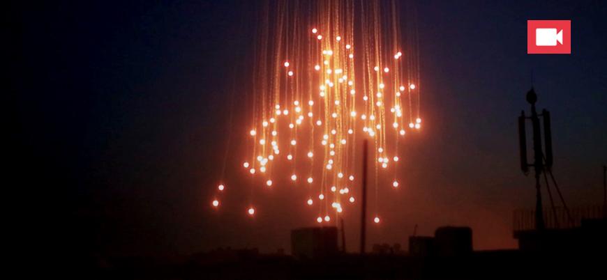 Savaş uçakları Hama'yı fosfor bombasıyla vurdu