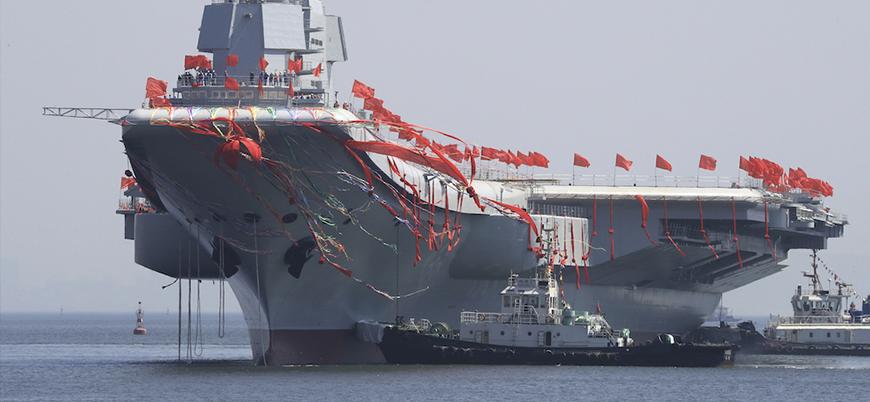Çin'in ilk yerli üretim uçak gemisi test seferine çıktı