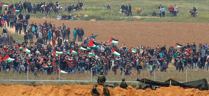 Gazze'de 'milyonluk dönüş yürüyüşü' hazırlıkları