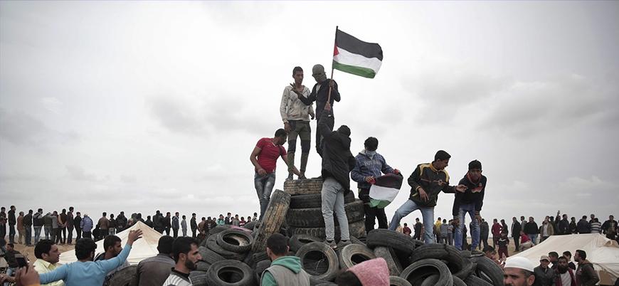 Gazze'de Nekbe protestoları başladı