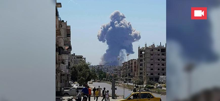 Rejime ait hava üssünde şiddetli patlamalar