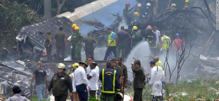 Küba'da 104 kişiyi taşıyan uçak düştü