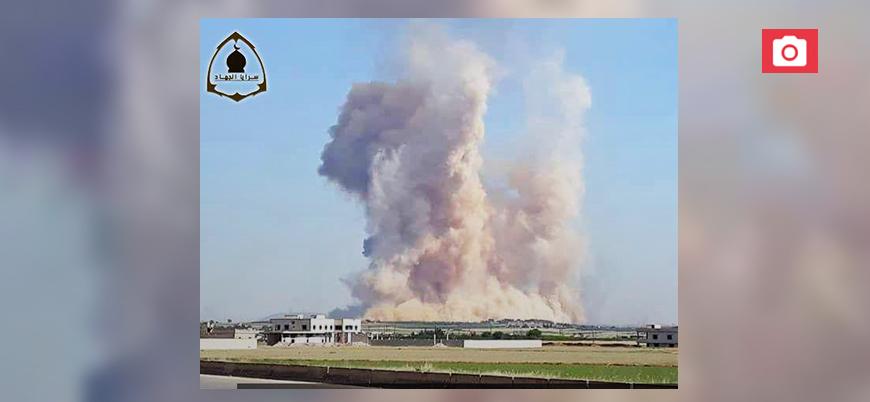 Suriye'de rejimin hava üssünde meydana gelen patlamaları 'muhalifler' üstlendi
