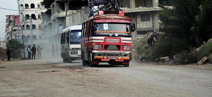 Şam'daki IŞİD'lilerin tahliyesine başlandı