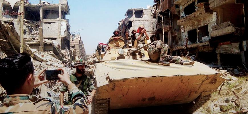 Başkent Şam'ın çevresi tamamen rejim kontrolüne geçti