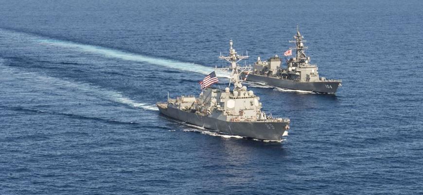 ABD savaş gemilerinden Çin açıklarında gövde gösterisi