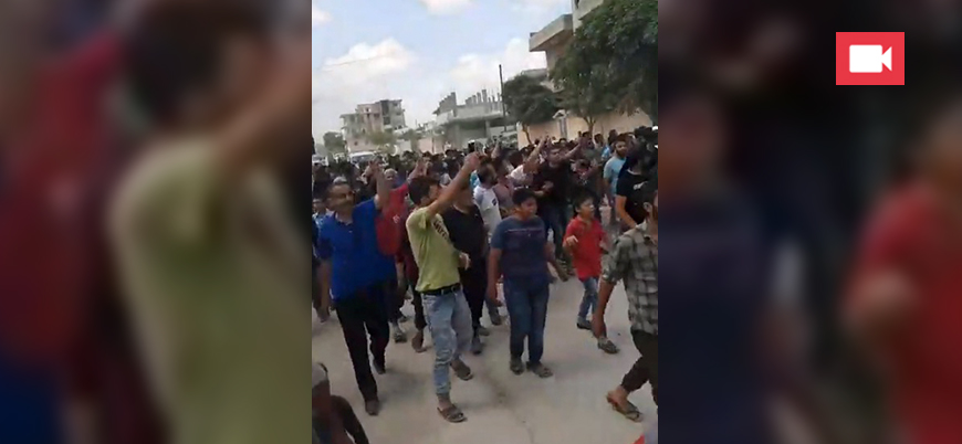 Cerablus'ta gösteriler: Fırat Kalkanı gruplarının kentten çıkması isteniyor