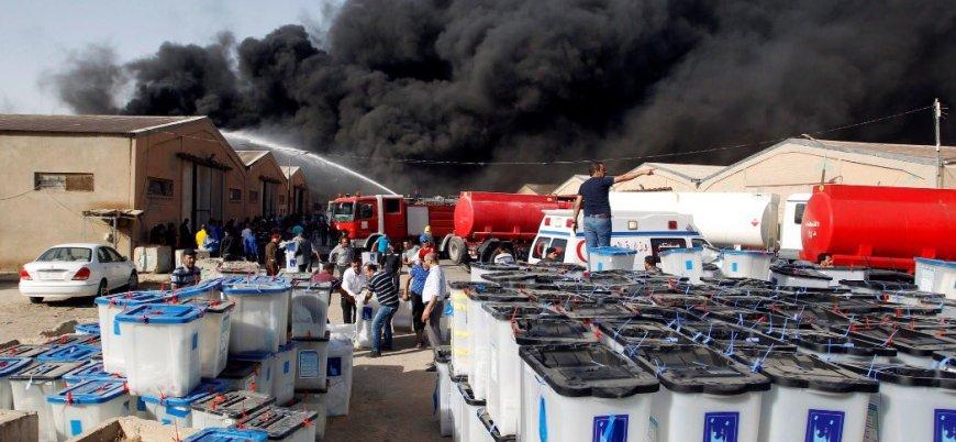 Yangın sonrası Irak'ta 'yeniden seçim' çağrısı