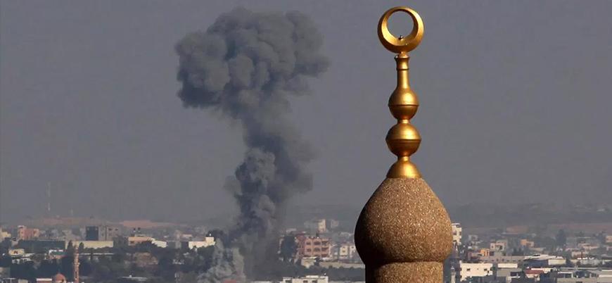 İsrail'den Gazze'de 9 noktaya hava saldırısı