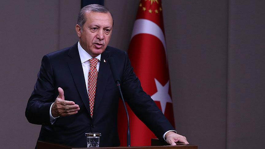 Erdoğan: Biz Suriye'ye Esed'in hükümranlığına son vermek için girdik