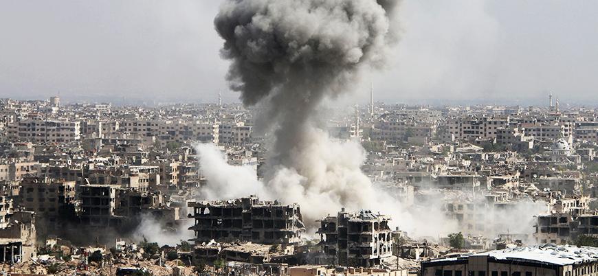 Rusya ve İran destekli koalisyondan Dera'ya bir günde 750 saldırı