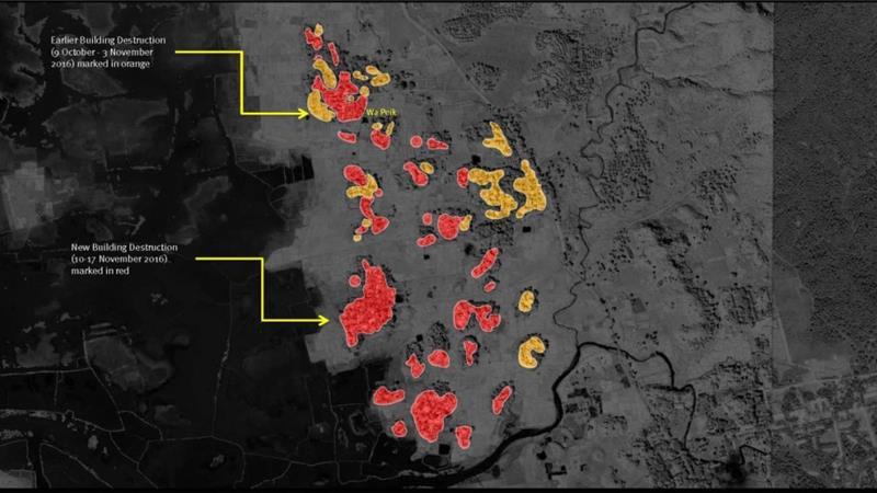 Arakan'da Müslümanlara ait 1200'den fazla yapı yok edildi