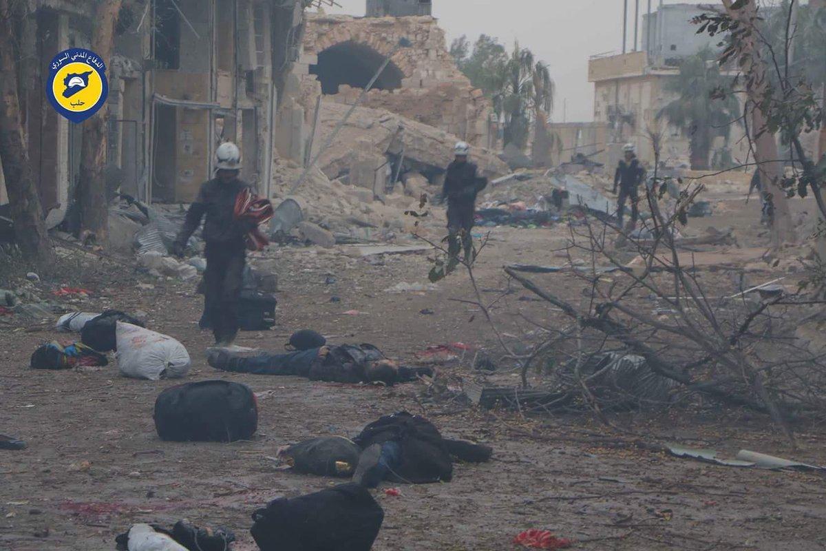Rejim, Halep'ten kaçan sivillere ateş yağdırdı: Çoğu kadın ve çocuk 45 ölü