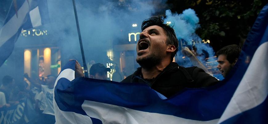 Yunanistan'da göstericilerle polis arasında çatışma