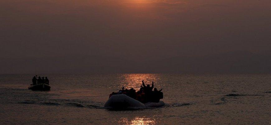 Göçmenleri taşıyan tekne Libya açıklarında battı