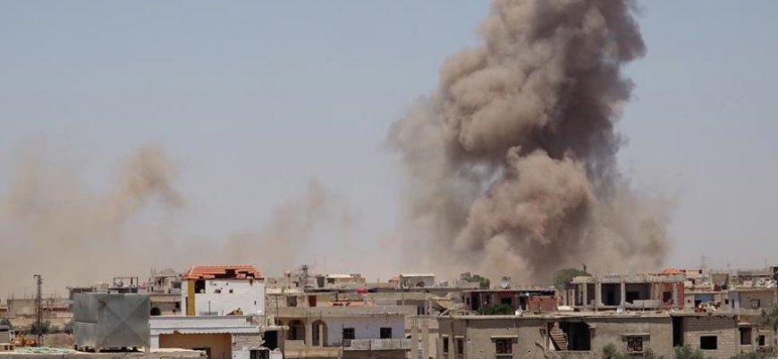 Dera'da Rusya ve rejim saldırılarından kaçanların sayısı 200 bine yaklaştı