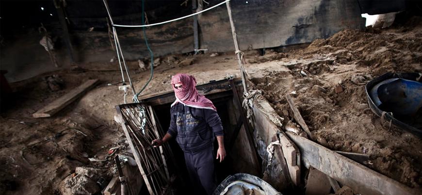 Mısır Gazze'nin bir tünelini daha yıktı