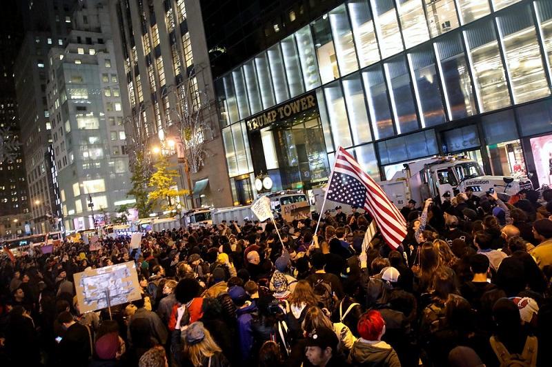 Chicago'da Trump protestosu
