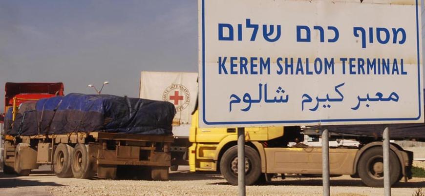 İsrail, ticari malların Gazze'ye geçtiği tek sınırı kapattı