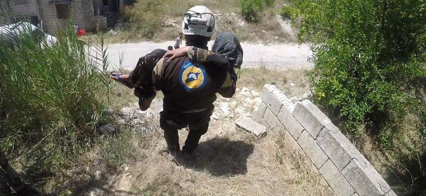 Rusya destekli rejim İdlib'deki sivilleri yoğun olarak vuruyor