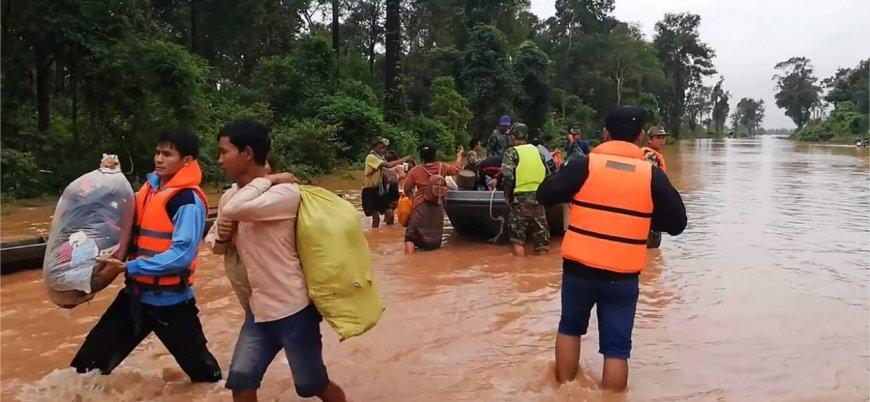 Yüzlerce kişi kayıp: Laos'ta baraj çöktü
