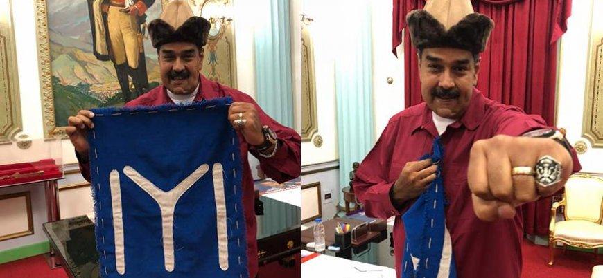 'T-shirt Giyen Askerler' Maduro saldırısını üstlendi