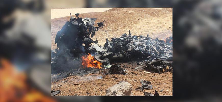 IŞİD, İsrail'in düşürdüğü rejim uçağının görüntülerini yayınladı