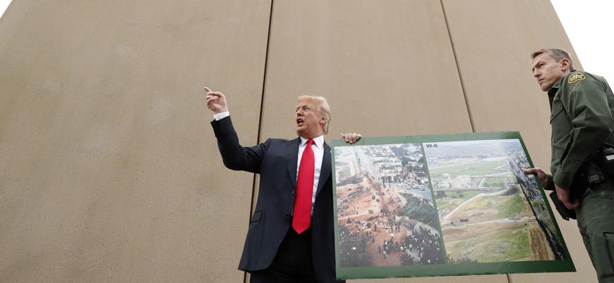 Trump: Meksika sınırına 15 bin kişilik askeri birlik gönderebiliriz