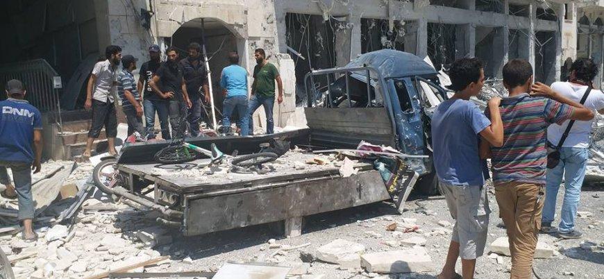 İdlib'de bomba yüklü araç patlatıldı