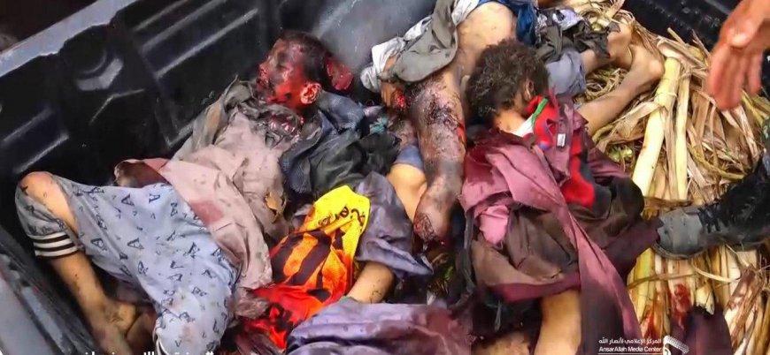 Yemen'de Suudi koalisyonu çocukları taşıyan servisi vurdu: 43 ölü
