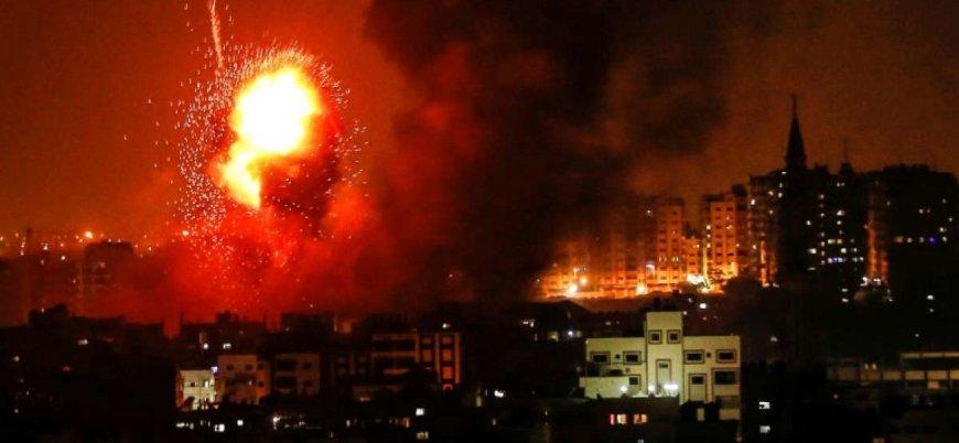 İsrail'den Gazze'de 150 noktaya hava saldırısı