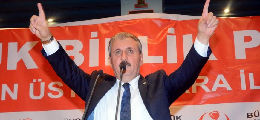 BBP lideri Destici: Sarı Yelekler'in en ön saflarında PKK unsurlarını görüyoruz