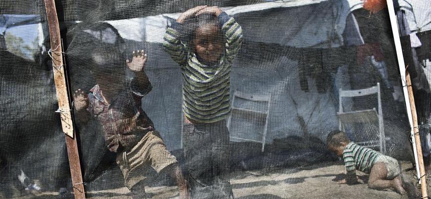 Yunanistan'daki mülteci kampının hali içler acısı