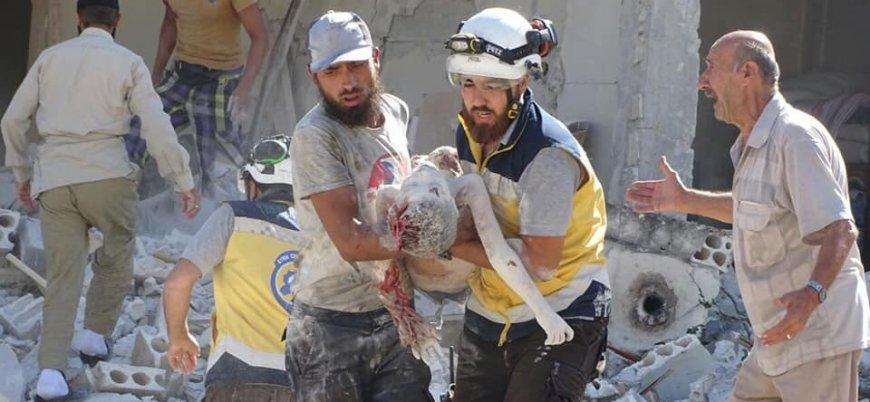 Rusya İdlib'de çocukları vurdu