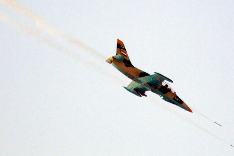 Suriye rejimine ait savaş uçağı düştü