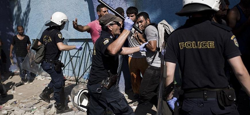 Selanik'te göstercilerle polis arasında çatışma