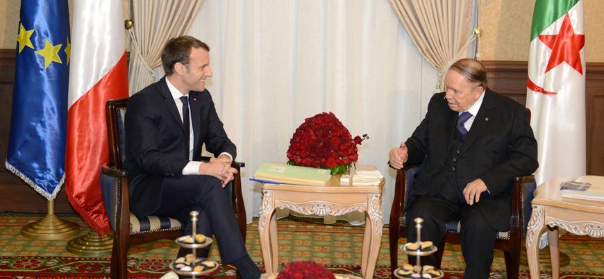 Macron, Cezayir lideri Buteflika ile telefonda görüştü
