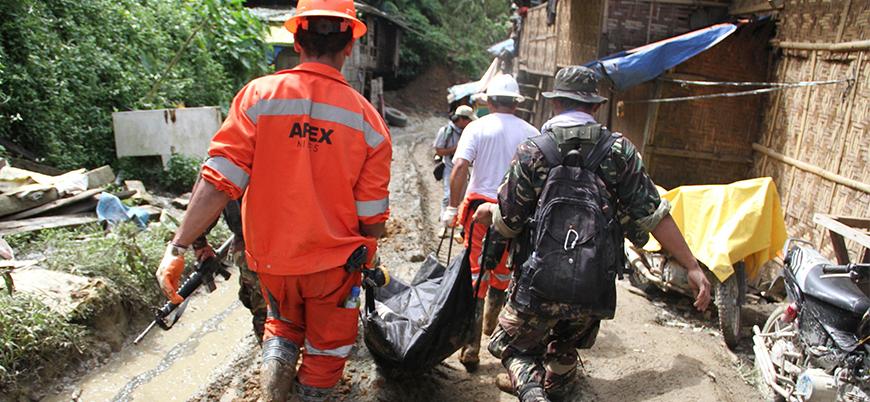 Filipinler'de heyelan: 30 işçi öldü