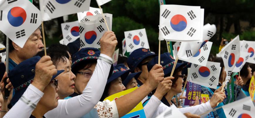 Güney Kore'de 'Koreler arası zirve' protesto edildi
