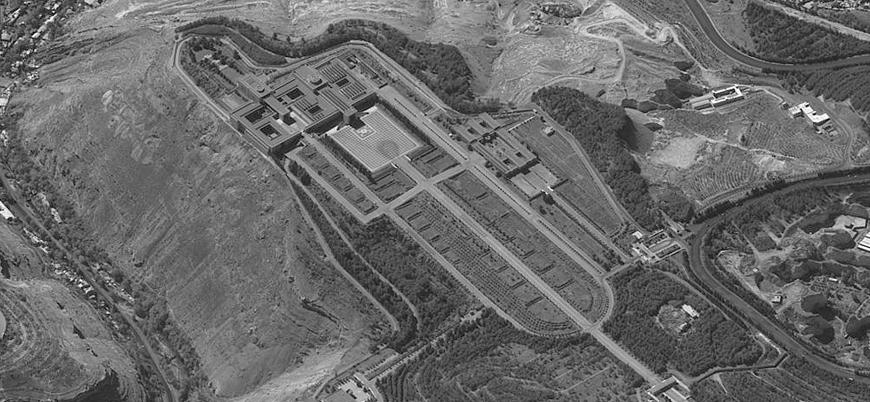 İsrail Esed'in sarayının uydudan çekilmiş görüntüsünü paylaştı