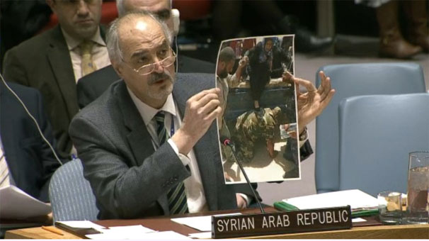 Rejim temsilcisi BM'de sahte fotoğraf gösterdi