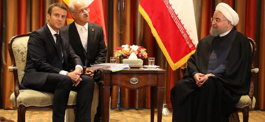 Ruhani ve Macron'dan nükleer kriz görüşmesi