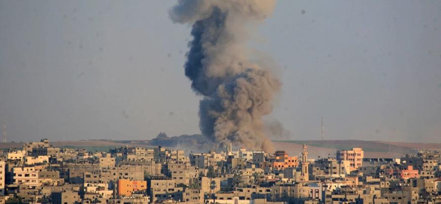 İsrail'den Gazze'nin doğusuna hava saldırısı