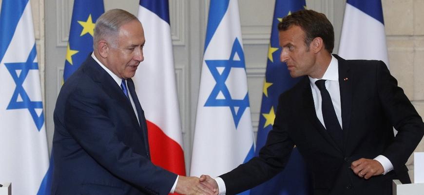 """Macron """"İsrail'in sömürgeci politikasını"""" kınadı"""