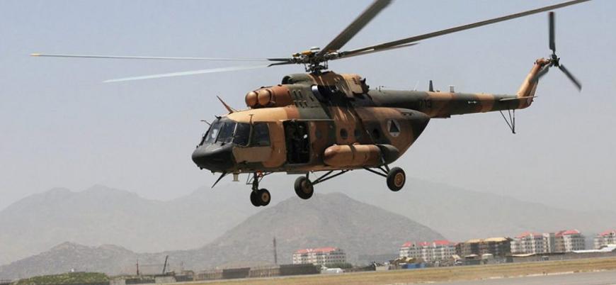 Taliban Afganistan'da helikopter vurdu