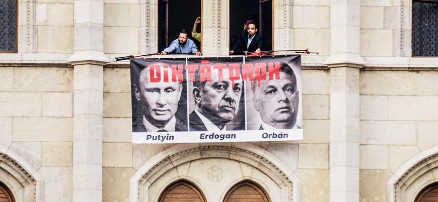 Macaristan'da 'Erdoğan' protestosu