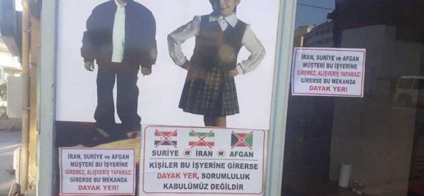 Denizli'de mülteci karşıtı afişler