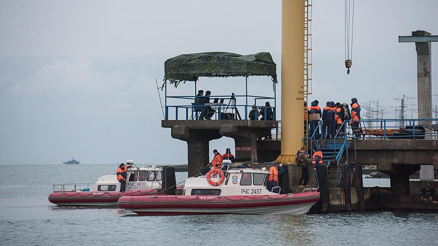 Karadeniz'e düşen Rus uçağının karakutusu bulundu